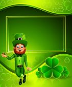 Leprechaun for patrick's day with sign