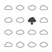Cloud shapes set