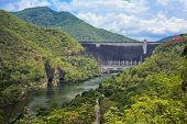 foto of hydro-electric  - Hydro Power Electric Dam in Tak Thailand - JPG