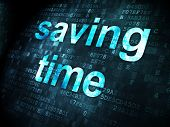 Saving Time on digital background