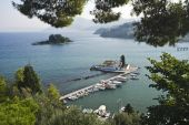 Mouse Island And The Vlacherna Monastery, Corfu, Greece