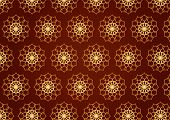 Classic Gold Flower Pattern On Blown Color Background