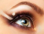 Beautiful Womanish Eye With Glamorous Makeup