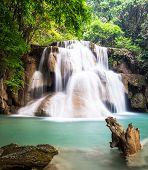 Waterfall At Kanchanaburi, Thailand