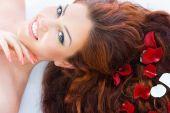Red Haired Model In Studio