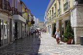 Shopping life in center city of Faro