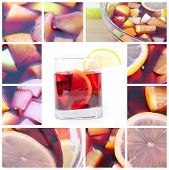 Collage With Sangria