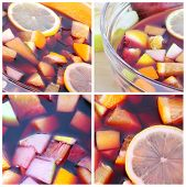 stock photo of sangria  - Cocktail collage - JPG