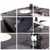 Dj Turntable Collage