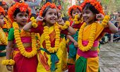 Children Dance Performers Enjoying At Spring Festival