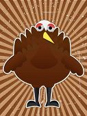 Cartoon Turkey Bird Outline by grungy raybeam background