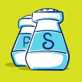 stock photo of salt shaker  - Vector illustration of salt and paper shaker - JPG