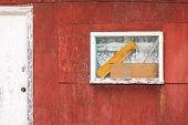 Rustic Wooden Cabin Exterior Window Door Abstract