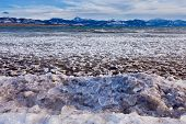 Lage Laberge Freeze-up Ice Floes Yukon Canada