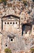 Ancient Lycian Tombs - Architecture In Mountains Of Turkey