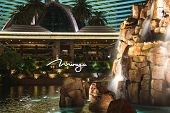 Waterfall At The Mirage Hotel In Las Vegas