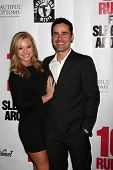LOS ANGELES - APR 1:  Nikki Leigh, Jesse Bradford at the