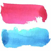 Pink and blue watercolour