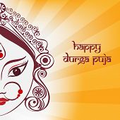 image of durga  - Durga goddess illustration in line art with rays - JPG