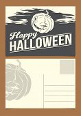 Halloween postcard template.