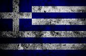 Grunge Flag Of Greece With Capital In Athens