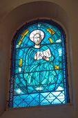 New stained glass windows of the church in Litovel