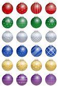 Christmas Tree Balls Colorful