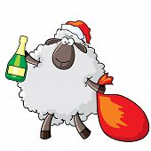 Sheep - Santa.eps