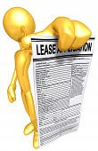 Gold Guy With Lease Application