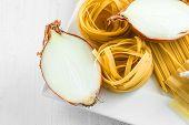 Italian Pasta With Garlics And Onion