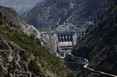 foto of hydroelectric power  - Baglihar Hydroelectric Power Project, is a run-of-the-river power project on the Chenab river