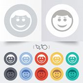 image of lol  - Smile face sign icon - JPG