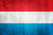 National Flag Of Luxembourg. Grungy Effect.