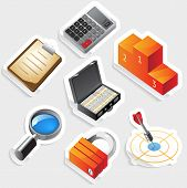 Sticker Icon Set For Business And Success