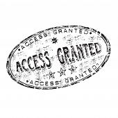 Access granted rubber stamp