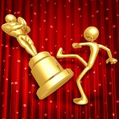 Film Award Loser Kicking Trophy