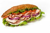 pic of deli  - Homemade Italian Sub Sandwich with Salami - JPG