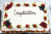 Congratulations Cake With Fruit
