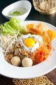 Thai Noodle Dish With Fried Egg