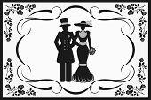 vintage wedding couple