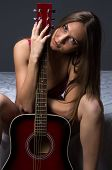 Photo of young girl with the guitar