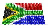 stock photo of zulu  - A traditional zulu beaded south african flag on an isolated background - JPG