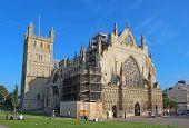 Exeter Cathedral Under Renovation, Devon, United Kingdom