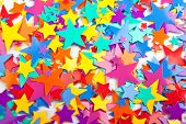 Multicoloured Confetti Stars