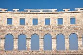 Wall Of The Ancient Amphitheater. Pula. Croatia