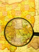 Magnifying Glass And The Map