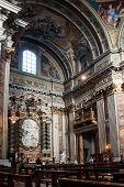 Side altar in the Jesuit church in Rome