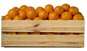 Wood fruit crate with oranges