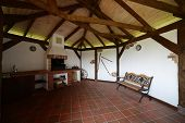 Cozy Veranda In Wooden House