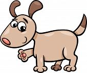 Dog Puppy Cartoon Illustration